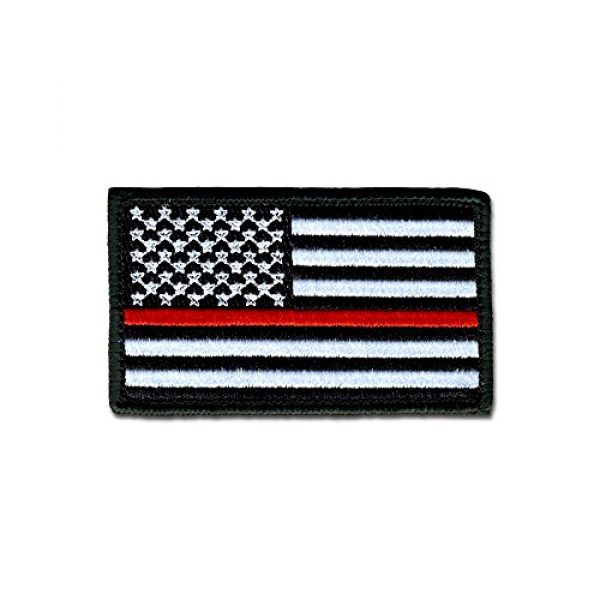 BASTION Airsoft Morale Patch 1 BASTION Morale Patches (USA Flag, Red Line)   3D Embroidered Patches with Hook & Loop Fastener Backing   Well-Made Clean Stitching   Military Patches Ideal for Tactical Bag, Hats & Vest
