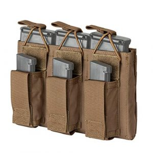 IDOGEAR Tactical Pouch 1 IDOGEAR Triple Mag Pouch Open-Top Triple Kangaroo Magazine Pouch and Pistol Mag Pouch 500D Nylon Airsoft Hunting Military Gear