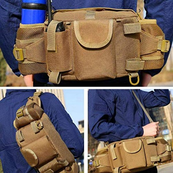 ANTARCTICA Tactical Pouch 5 ANTARCTICA 1050D Military Tactical Waist Pack Bag Fanny Pack Sling Bag Range Bag EDC Camera Bag with Shoulder Strap for Outdoor,Sports,Jogging,Walking,Hiking,Cycling