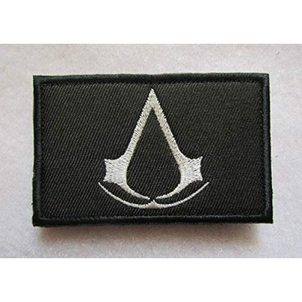 Embroidered Patch Airsoft Morale Patch 1 Assassin's Creed 3D Tactical Patch Military Embroidered Morale Tags Badge Embroidered Patch DIY Applique Shoulder Patch Embroidery Gift Patch