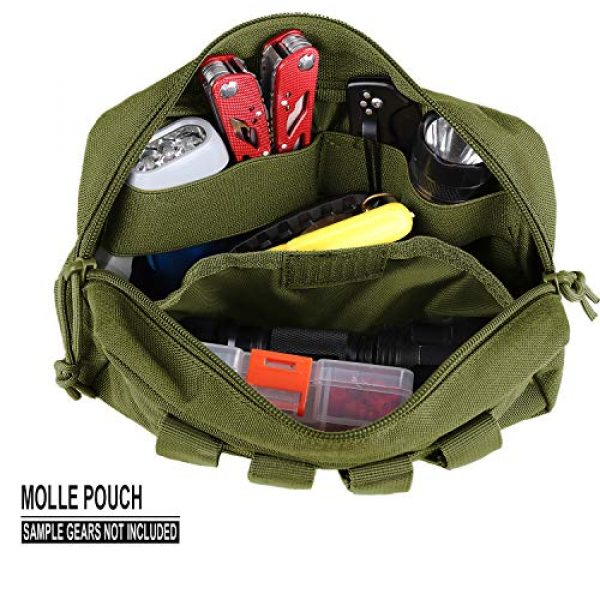 AMYIPO Tactical Pouch 5 AMYIPO MOLLE Pouch Multi-Purpose Compact Tactical Waist Bags Utility Pouch