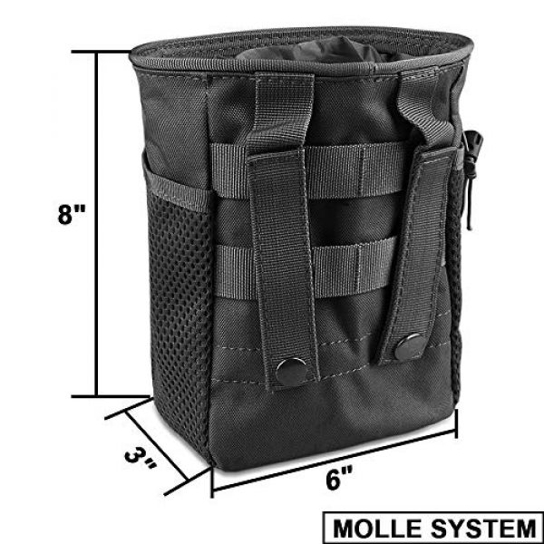 AMYIPO Tactical Pouch 2 AMYIPO Tactical Hip Holster Bag Outdoor Pouch Molle Drawstring Magazine Dump Pouch, Military Adjustable Belt Utility Pouch