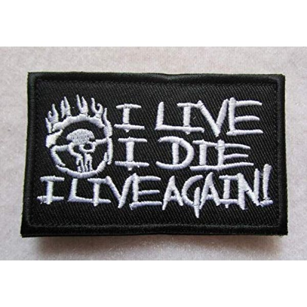 Embroidered Patch Airsoft Morale Patch 1 Mad Max Fury I Live I Die I Live Again 3D Tactical Patch Military Embroidered Morale Tags Badge Embroidered Patch DIY Applique Shoulder Patch Embroidery Gift Patch