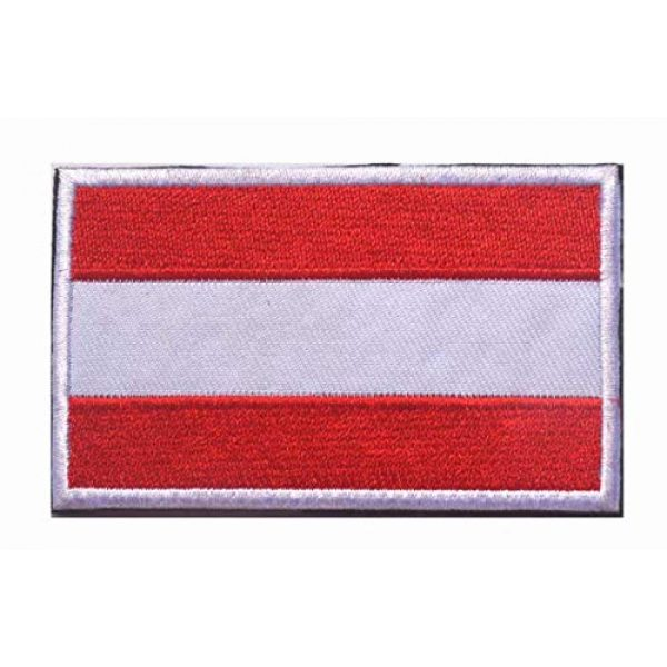 Tactical Embroidery Patch Airsoft Morale Patch 2 2pcs Austria Flag Embroidery Patch Military Tactical Morale Patch Badges Emblem Applique Hook Patches for Clothes Backpack Accessories