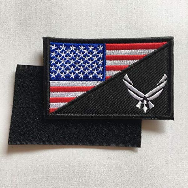 Hng Kiang Hu Airsoft Morale Patch 3 USAF Flag USA Air Force Logo Embroidered Military Tactical Hook & Loop Decorative Patch