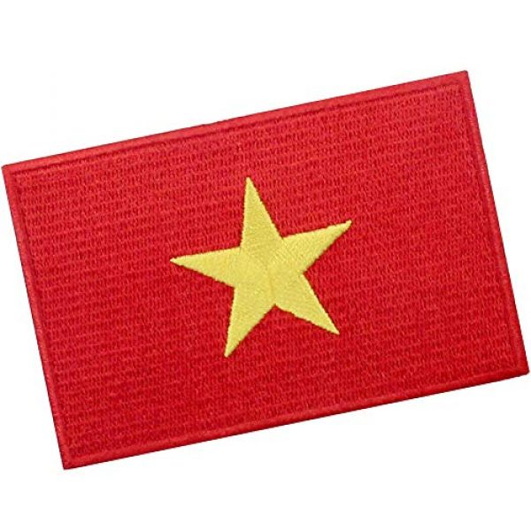 EmbTao Airsoft Morale Patch 3 EmbTao Vietnam Flag Patch Embroidered National Morale Applique Iron On Sew On Vietnamese Emblem