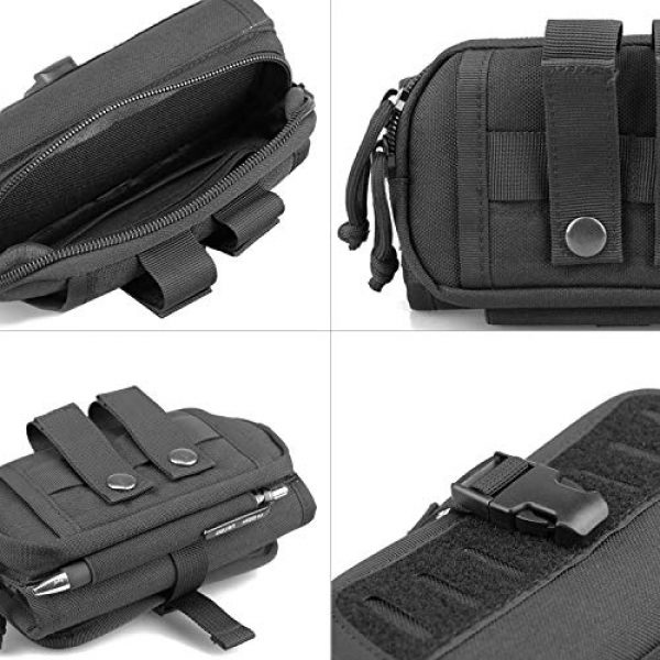 AMYIPO Tactical Pouch 4 AMYIPO Cell Phone Pouch Tactical Smartphone Pouch EDC Utility Gadget Waist Bag Pack