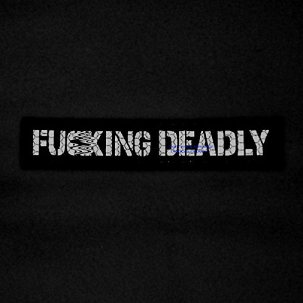 Tactical Freaky Airsoft Morale Patch 2 IR Fuing Deadly 1x5 Multicam Infrared Name Tag Callsign Morale Tactical Fastener Patch