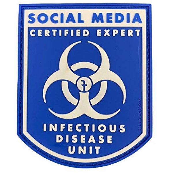 "Violent Little Machine Shop Airsoft Morale Patch 1 Violent Little""Certified Social Media Expert Infectious Diseases"" Morale Patch"
