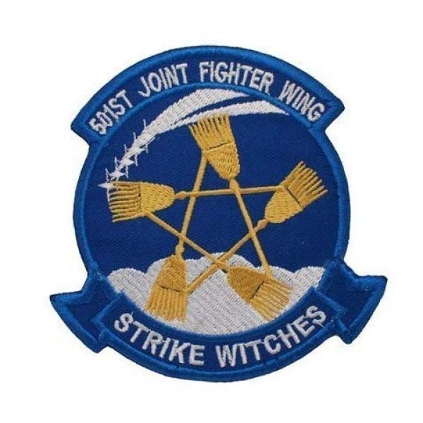 Tactical Embroidery Patch Airsoft Morale Patch 1 501st Joint Fighter Wing Strike Witches Embroidery Patch Military Tactical Morale Patch Badges Emblem Applique Hook Patches for Clothes Backpack Accessories