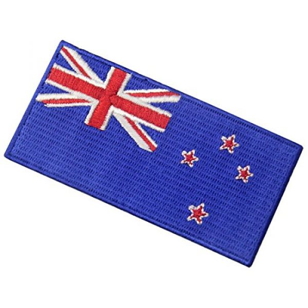 EmbTao Airsoft Morale Patch 4 New Zealand Flag Embroidered Kiwi Emblem Iron On Sew On National Patch
