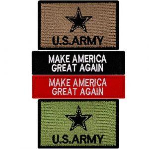 JumpyFire Airsoft Morale Patch 1 JumpyFire Tactical USA Army Velcro Patch, 4 PCS Make America Great Again Embroidered Military Morale Patches for Backpack Hat Jacket Jeans Uniform