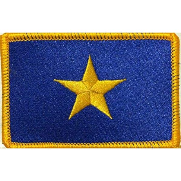 Fast Service Designs Airsoft Morale Patch 1 The Burnet Flag (1836-1839) Republic of Texas Flag Embroidered Patch with Hook & Loop MC Biker Patriotic USA Shoulder Morale Emblem #03 (Gold Border)