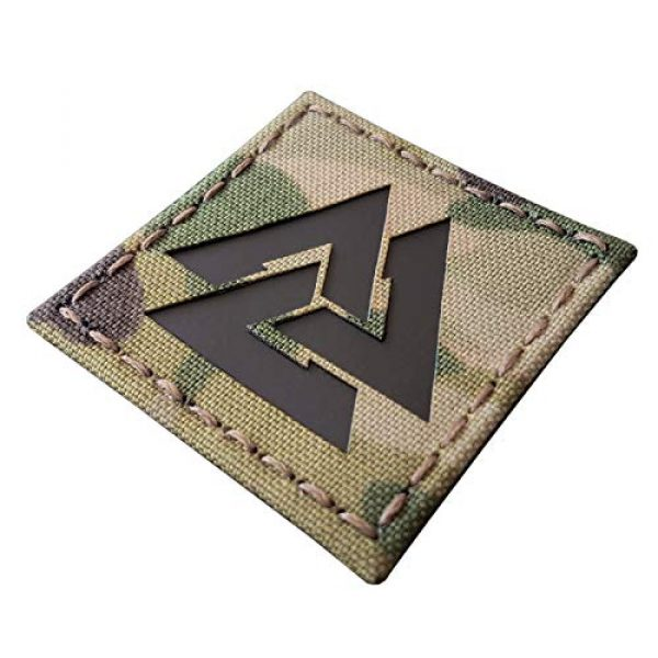 Tactical Freaky Airsoft Morale Patch 2 Multicam Infrared IR Viking Valknut Norse 2x2 IFF Tactical Morale Touch Fastener Patch