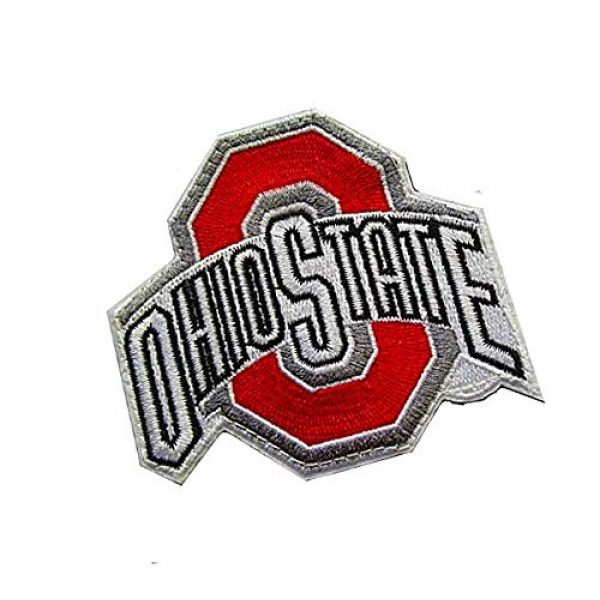 Embroidery Patch Airsoft Morale Patch 2 Ohio State Buckeyes Military Hook Loop Tactics Morale Embroidered Patch