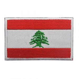 GreatPlus Airsoft Morale Patch 1 Lebanon Flag Patch Embroidered Military Tactical Morale Patches (Lebanon)