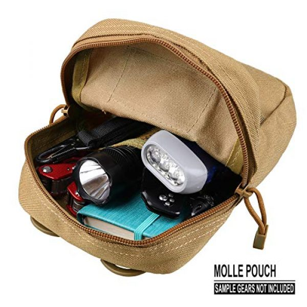 AMYIPO Tactical Pouch 4 AMYIPO Tactical Admin Molle Pouch Multi-Purpose Tool Holder Modular Utility Bag Tools EDC Admin Attachment Pouches
