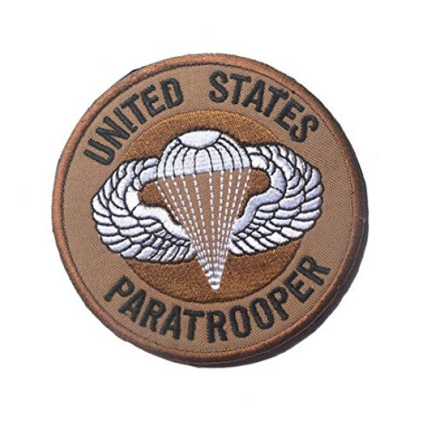 Zhikang68 Airsoft Morale Patch 6 US Air Force Patch USAF Emblem United States Paratrooper Tactical America Military Embroidered Morale Badges Applique for Coat Jacket Gear Cap Hat Backpack (Set 9)
