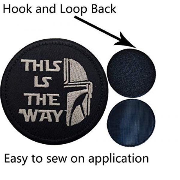 APBVIHL Airsoft Morale Patch 5 This is The Way Mandalorian Morale Patch, Fastener Hook and Loop Backing Tactical Military Embroidered Fabric Patches for Clothes Hat Backpack, 3.15 Inch, Bundle 2 Pieces