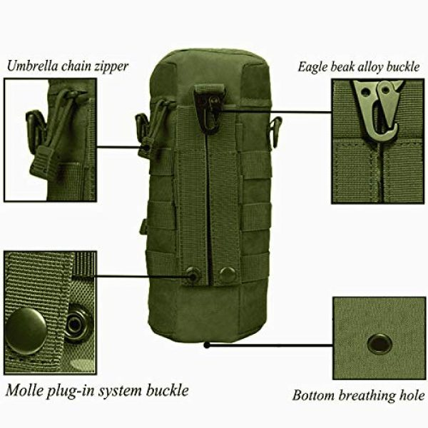 AOCK Tactical Pouch 7 AOCK Tactical Molle Water Bottle Pouch for Outdoor Travel Activities Military Camping Hiking Bag Outdoor Bag