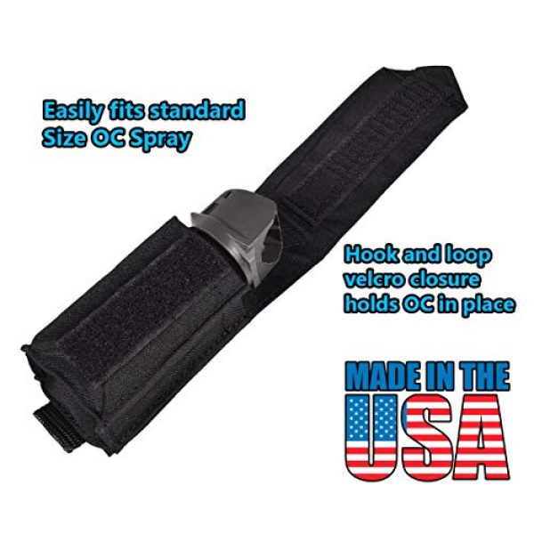 BlueStone Safety Tactical Pouch 3 BlueStone Safety Molle OC Pepper Spray Canister Pouch  Molle Pepper Spray Pocket  4.5 Inch Tall OC Spray Molle Tactical Pouch for Police & Security Load Bearing Vest Carriers/External Vest Carriers