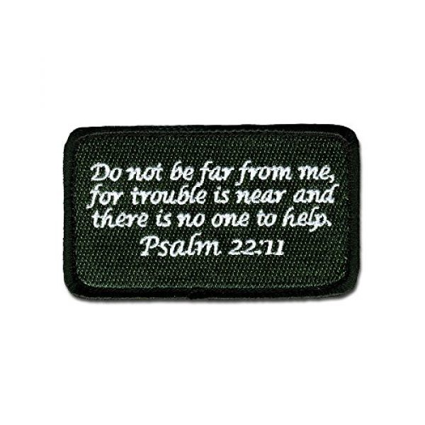 BASTION Airsoft Morale Patch 1 BASTION Morale Patches (Psalm 22:11, ODG)   3D Embroidered Patches with Hook & Loop Fastener Backing   Well-Made Clean Stitching   Christian Patches Ideal for Tactical Bag, Hats & Vest