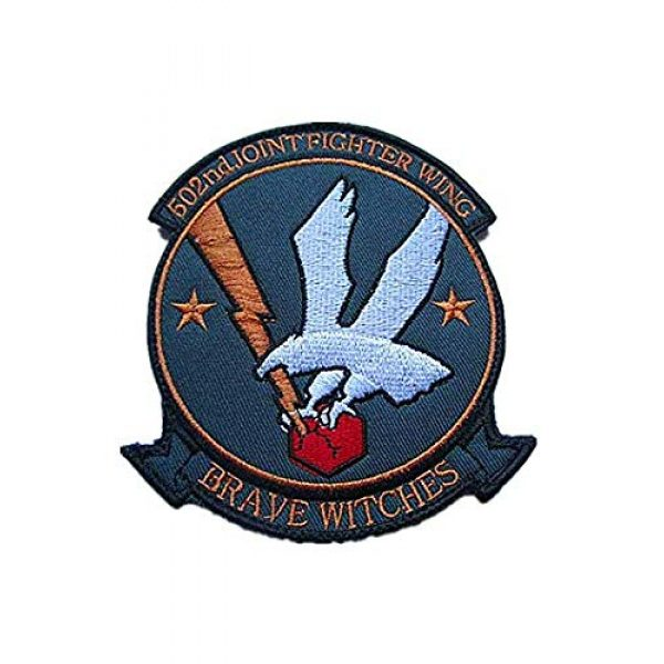 Embroidery Patch Airsoft Morale Patch 1 502nd Joint Fighter Wing Brave Witches Military Hook Loop Tactics Morale Embroidered Patch