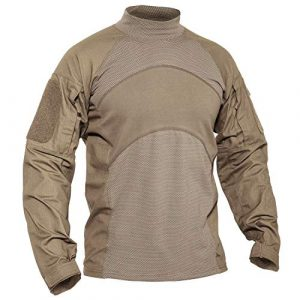 MAGCOMSEN Tactical Shirt 1 Men's Long Sleeve Tactical Military Combat Shirts with Pockets