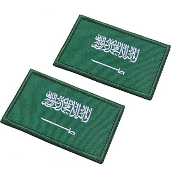 Tactical Embroidery Patch Airsoft Morale Patch 1 2pcs Saudi Arabia Flag Embroidery Patch Military Tactical Morale Patch Badges Emblem Applique Hook Patches for Clothes Backpack Accessories