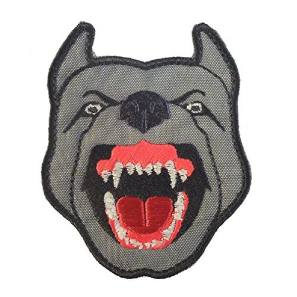 LEGEEON Airsoft Morale Patch 2 LEGEEON Glow Dark GITD K9 Pitbull Dog Teeth Scary Fierce Morale Tactical Embroidered Hook&Loop Patch
