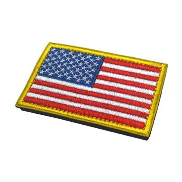 WZT Airsoft Morale Patch 4 WZT 4 Pcs Tactical Flag Patch - Combination USA NASA Patch Embroidered Morale Lot Military Embroidered Patches