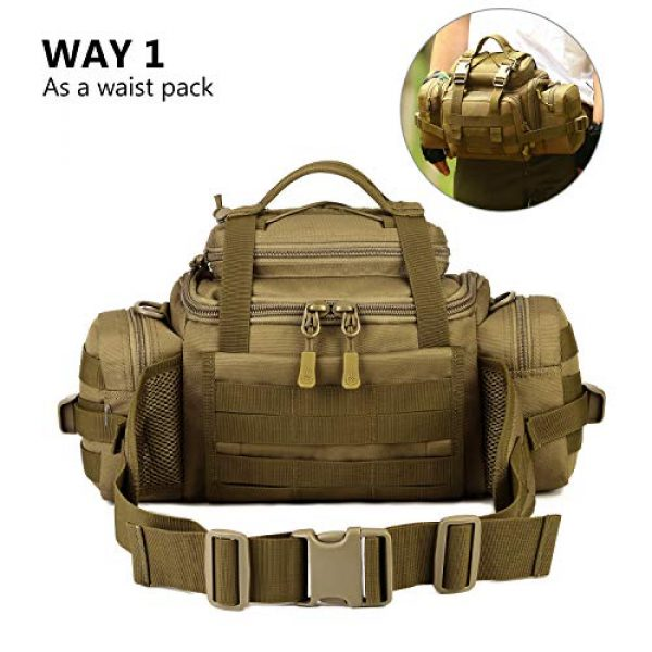 ArcEnCiel Tactical Pouch 6 ArcEnCiel Tactical Duffle Bag Fishing Fanny Pack Range Bags Men Gym Military Molle Shoulder Bags Waist Camera Sports Handbag