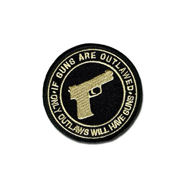 BASTION Airsoft Morale Patch 1 BASTION Morale Patches (If Guns are Outlawed, ACU) | 3D Embroidered Patches with Hook & Loop Fastener Backing | Well-Made Clean Stitching | Military Patches Ideal for Tactical Bag, Hats & Vest