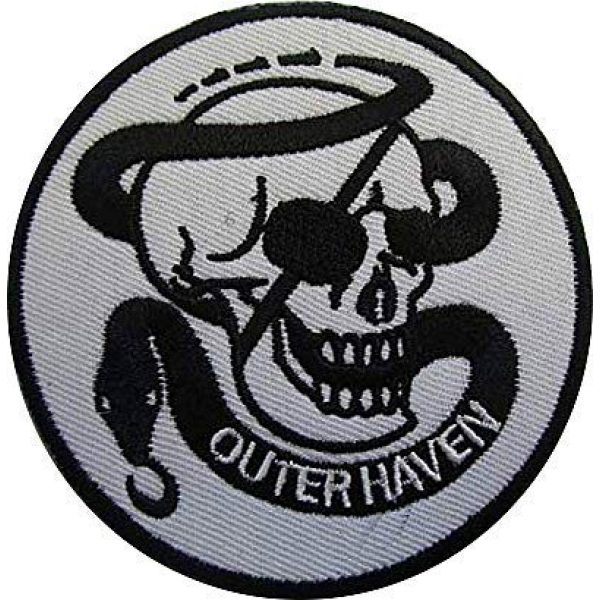 Embroidery Patch Airsoft Morale Patch 1 Metal Gear Solid Outer Heaven Military Hook Loop Tactics Morale Embroidered Patch