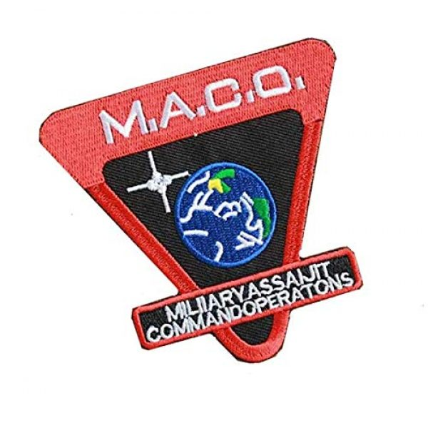Embroidery Patch Airsoft Morale Patch 2 Star Trek Enterprise M.A.C.O Military Hook Loop Tactics Morale Embroidered Patch
