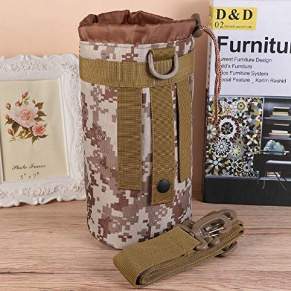 BESPORTBLE Tactical Pouch 5 BESPORTBLE Molle Water Bottle Bag Military Kettle Holder Hydration Carrier Crossbody Pouch Pocket for Camping Climbing Cycling Hiking Travelling Black
