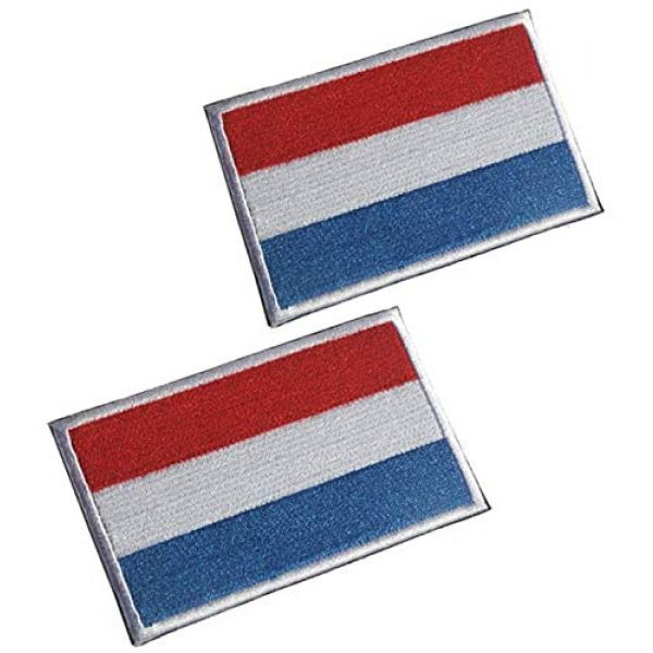 Tactical Embroidery Patch Airsoft Morale Patch 1 2pcs Luxembourg Flag Embroidery Patch Military Tactical Morale Patch Badges Emblem Applique Hook Patches for Clothes Backpack Accessories