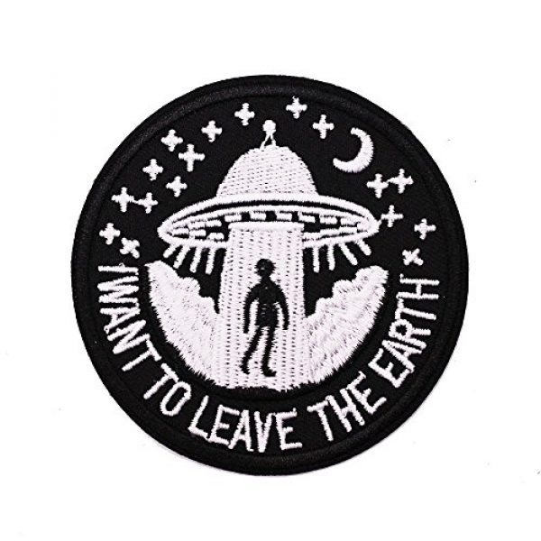 U-Sky Airsoft Morale Patch 2 U-Sky Sew or Iron on Patches - I Want to Leave - Pack of 2 Different Design