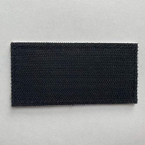 """uuKen Airsoft Morale Patch 4 uuKen Small Embroidered 4x2 inch White Boarder Security Guard Officer Patch 2 Pieces as Pack Set Bundle for Tactical Vest Uniform Clothing Bags Backpacks (White Boarder, 4""""x2"""")"""