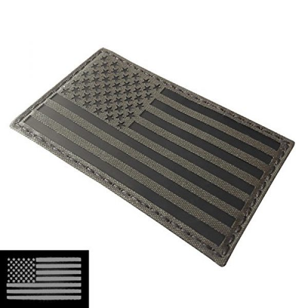 Tactical Freaky Airsoft Morale Patch 1 Big 3x5 Ranger Green Infrared IR USA American Flag IFF Tactical Morale Hook&Loop Patch