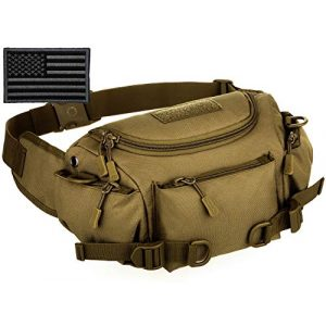 Protector Plus Tactical Pouch 1 Protector Plus Tactical Fanny Pack Military Running Waist Bag Sling Pouch Hip Belt MOLLE Army Lumbar Gear Pocket (Patch Included)