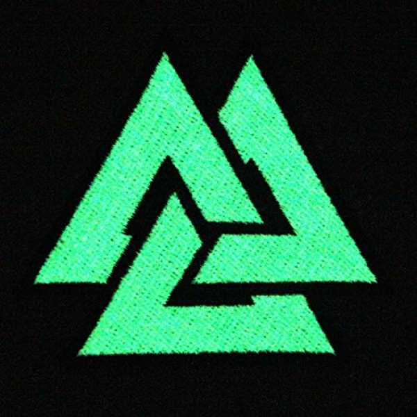 EmbTao Airsoft Morale Patch 4 EmbTao Glow in Dark Valknut Triangle Symbol Viking Norse Rune Morale Tactical Iron On Sew On Patch