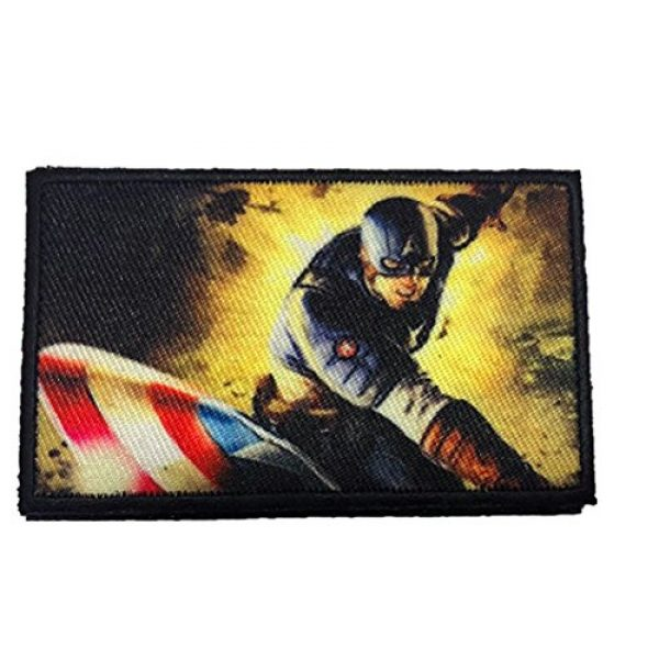 Fine Print Patch Airsoft Morale Patch 1 WWII Captain America with a BAR Morale Patch Tactical