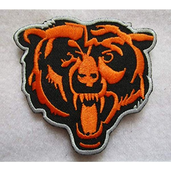 Embroidered Patch Airsoft Morale Patch 1 Chicag-o Bear 3D Tactical Patch Military Embroidered Morale Tags Badge Embroidered Patch DIY Applique Shoulder Patch Embroidery Gift Patch