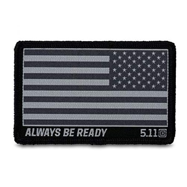 5.11 Airsoft Morale Patch 1 5.11 Tactical Reverse USA Flag Woven Patch, Hook-Back Adhesion, Morale Fabric Badge, Style 81293