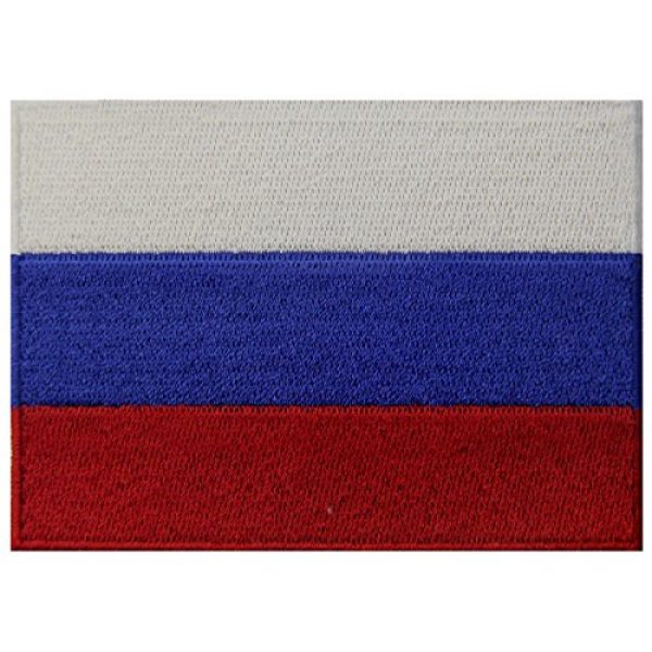 EmbTao Airsoft Morale Patch 1 Russia Flag Embroidered Emblem Russian Federation Iron On Sew On National Patch