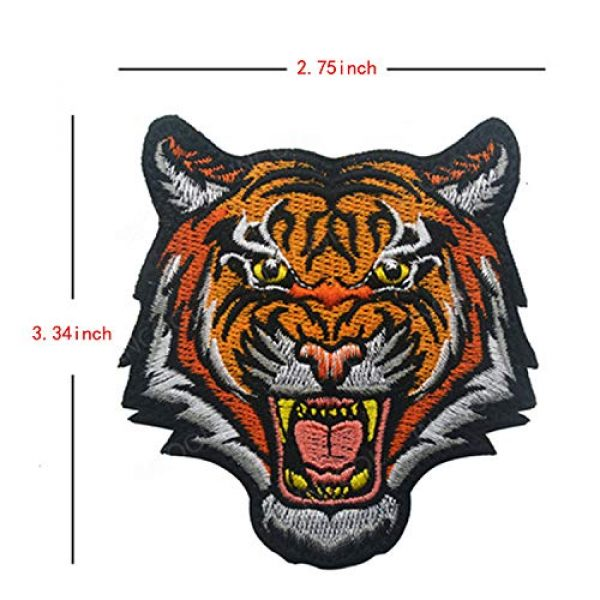 LanXin Airsoft Morale Patch 5 Tiger Bear Wolf Embroidery Patch Animal Military Morale Patches Tactical Combat Emblem Applique Embroidered Badges Hook and Loop Fasteners Backing Patches