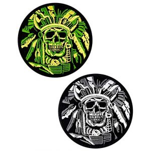 JumpyFire Airsoft Morale Patch 1 JumpyFire Tactical Skull Velcro Patch, 2 PCS Embroidered Military Morale Patches for Backpack Hat Jacket Jeans Uniform