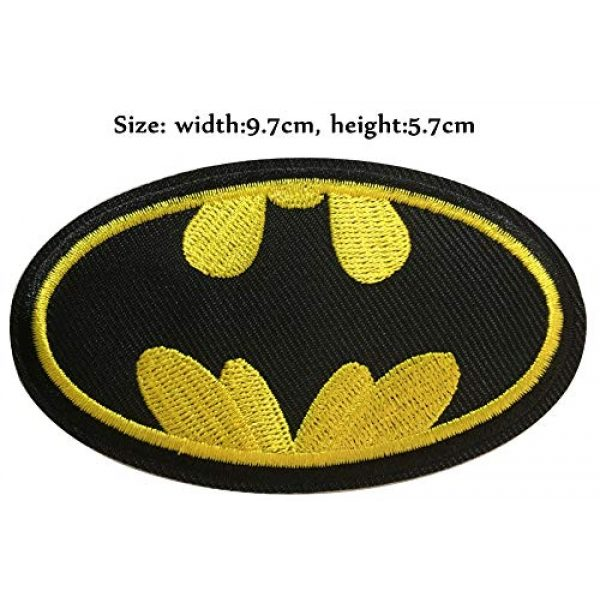 Yoyoking Airsoft Morale Patch 2 Yoyoking Super Hero Black/Yellow Logo Embroidered Iron on or Sew on Patch ( Size: 9.7cm5.7cm )