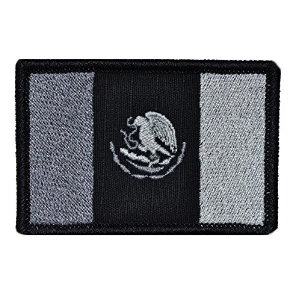 Tactical Gear Junkie Airsoft Morale Patch 1 Flag of Mexico 2x3 Patch - Multiple Colors - Multiple Colors (Black)